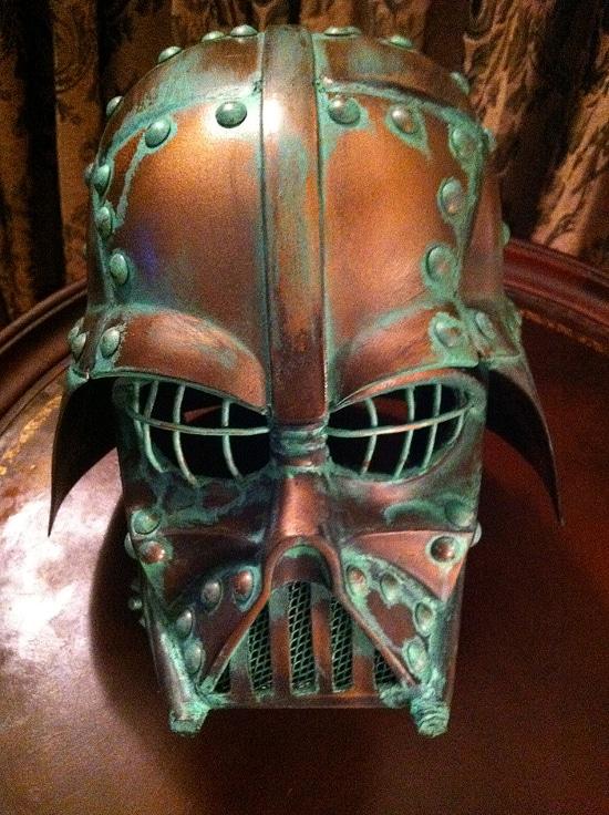 Darth Vader Copper Steampunk Helmet