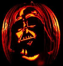 Star Wars Carved Black Pumpkin
