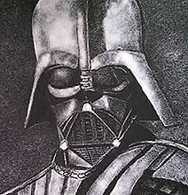 Unusual Art: Darth Vader Portrait Created With Salt
