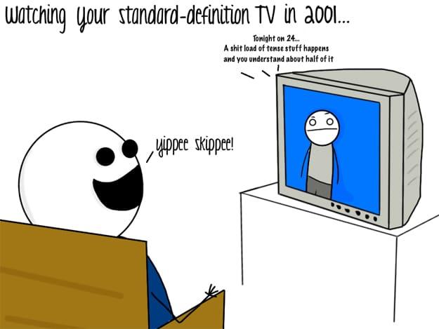 High Definition Televison Comic