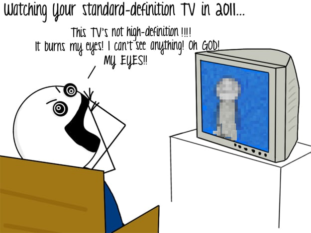 High Definition TV Comic