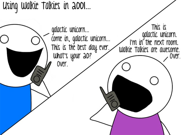 Walkie Talkies Then and Now