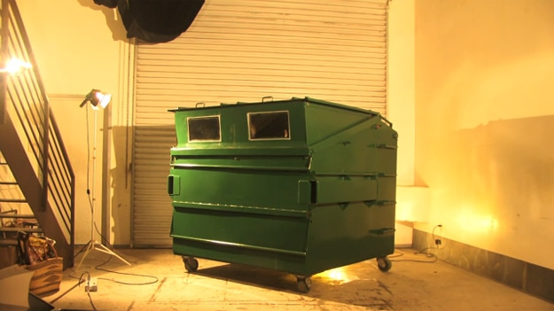 Dumpster Converted Into Living Space