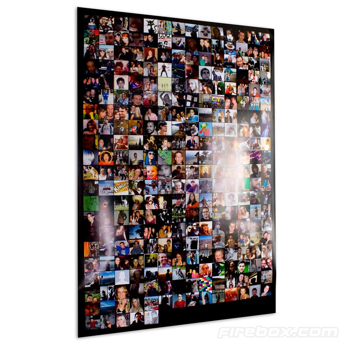 Facebook Friends Poster: Social Patchwork For Your Wall