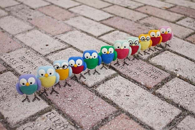 Your Daily Cute Felt Birdies