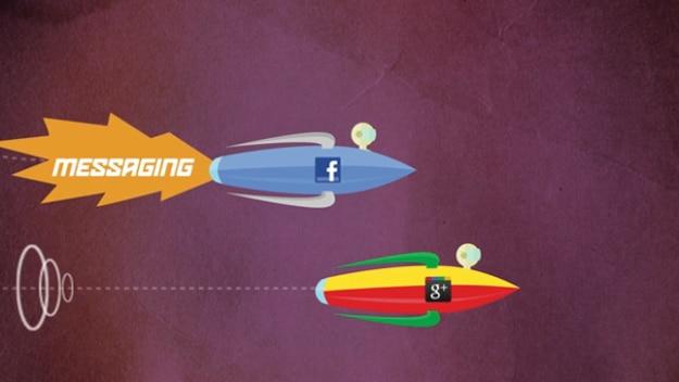 Google Plus Vs Facebook Infographic