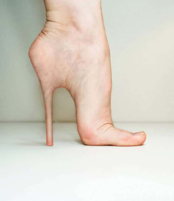 Growing Real Skin Stiletto Heels