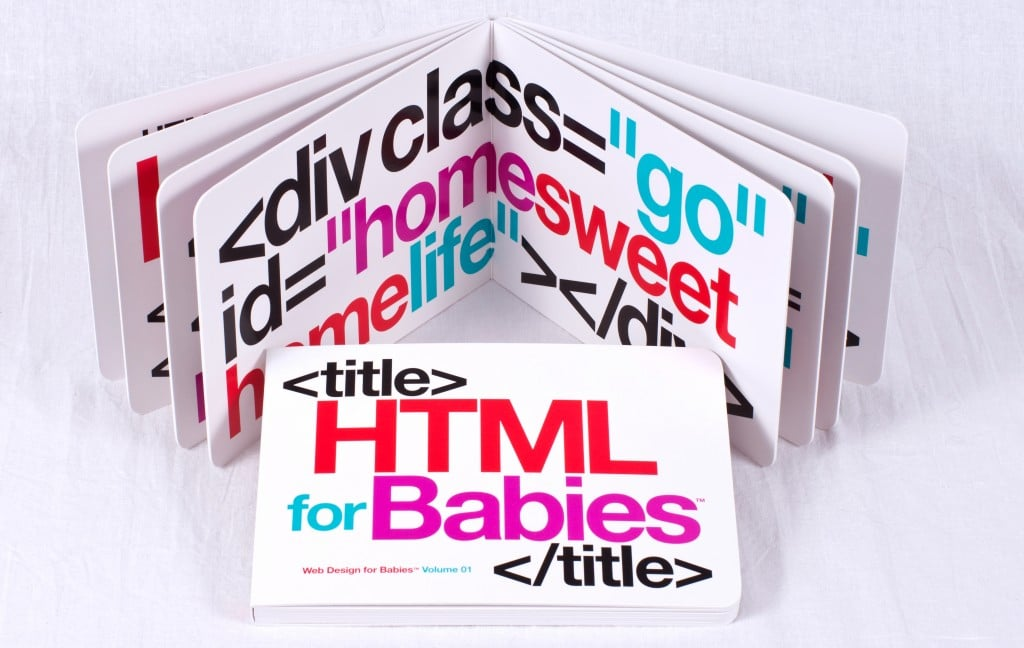 HTML For Babies Book Concept