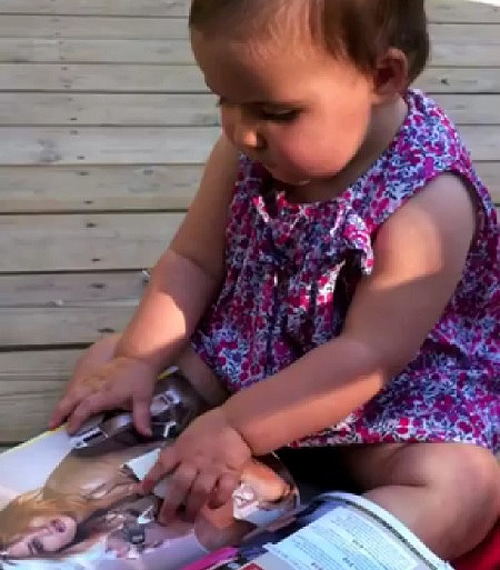 Baby Plays With iPad