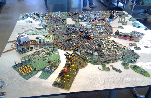 Geek Created City From Motherboards