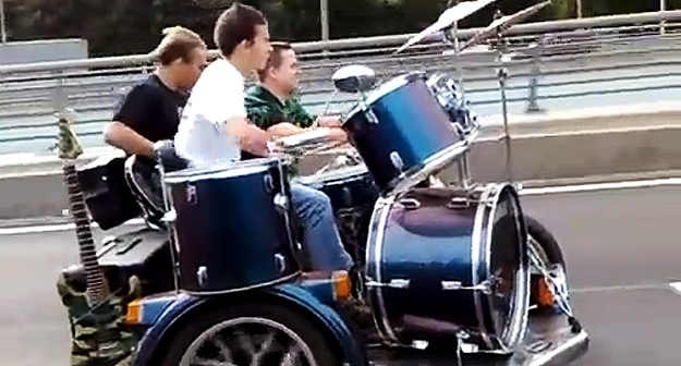 Guy Takes His Band On The Road, Literally! [Video]