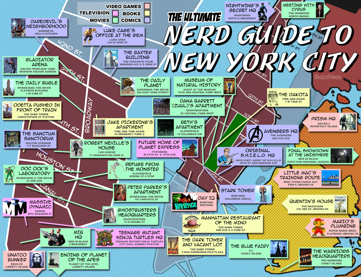 Nerd Map Over New York