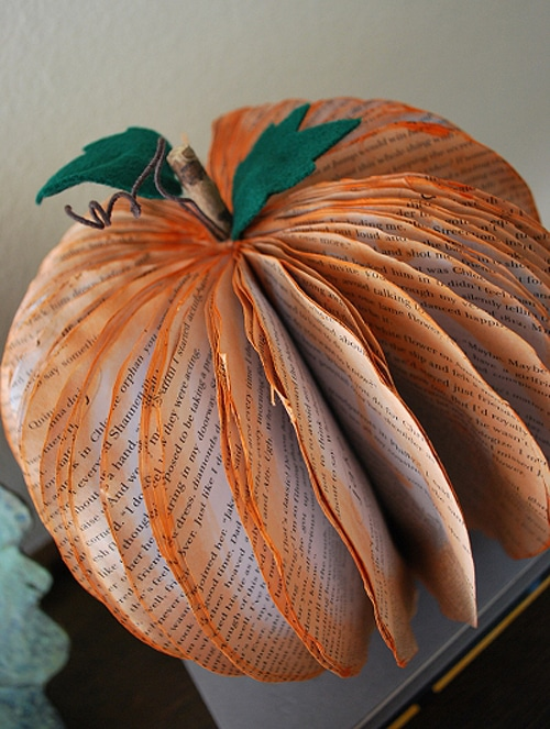 Old Books Become Halloween Pumpkins