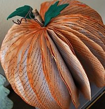 How To: Transform Old Books Into Holiday Pumpkins