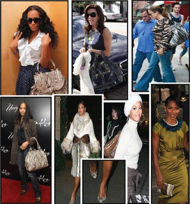 Celebrities With Python Purses