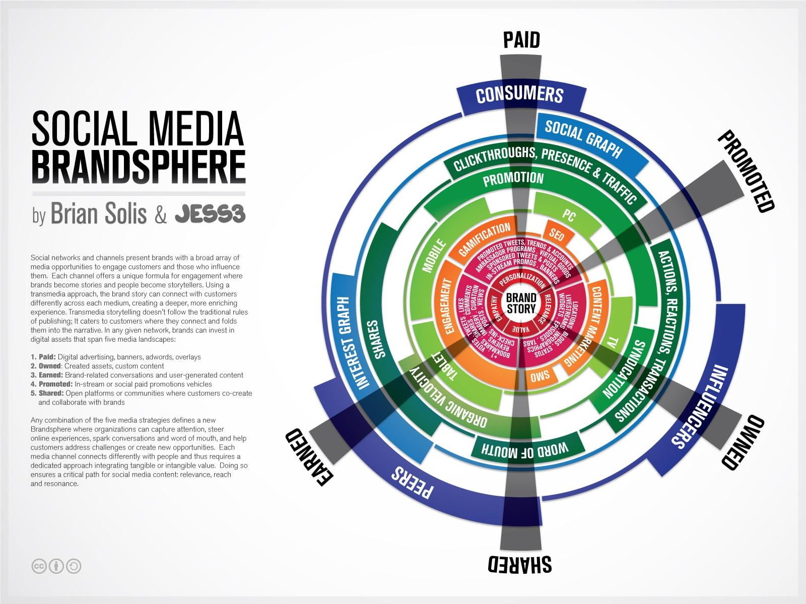 Social Media Brandsphere Infographic Chart