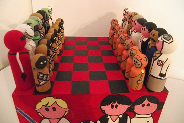 Peg People Chess Set Etsy