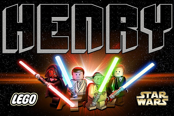 Personalized Lego Star Wars Poster