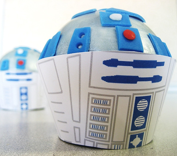 R2D2 Cupcakes Handmade Toppers