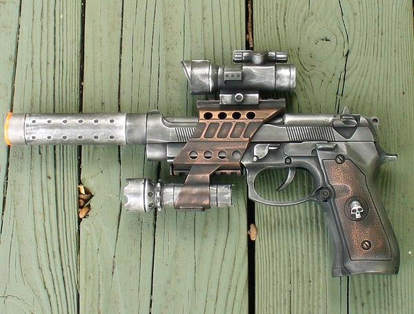 Intergalactic Steampunk Gun Pistol