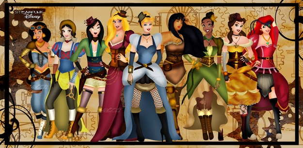 Disney Goes Steampunk: 9 Princesses With Spunky Style