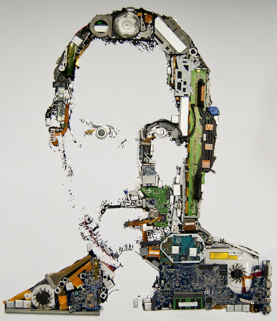 Steve Jobs Spare Parts Portrait