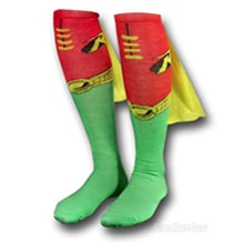 Superhero Socks With Capes: Get Your Geek On