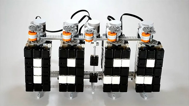 Twisted Time Lego Clock Is An Optimized Build Of Awesomeness