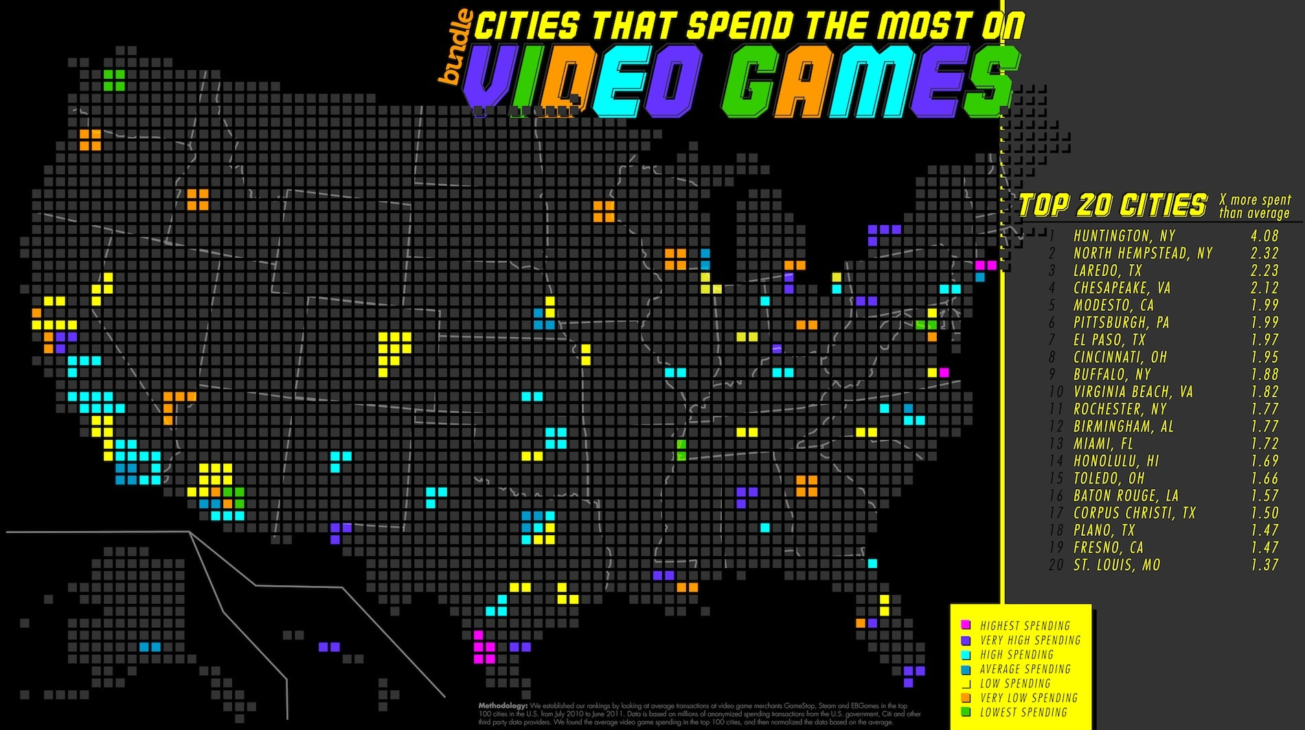 Map Of Video Game Spending In The U.S. [Infographic]