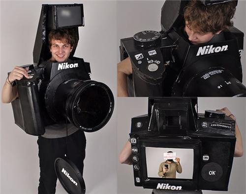 Fully Working Nikon D3 Camera Cosplay Costume Is Sick