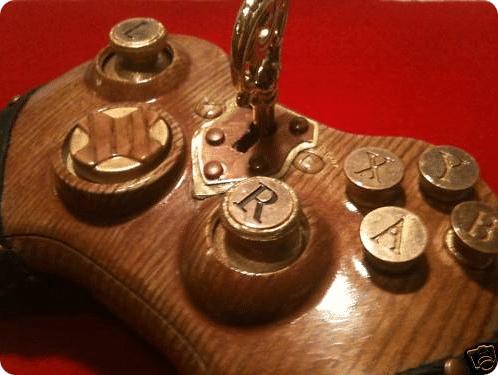 Xbox Wooden Steampunk Controller Mod