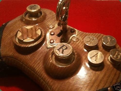 Xbox Wooden Steampunk Controller Mod