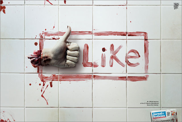 Zombie Facebook Like Button Concept