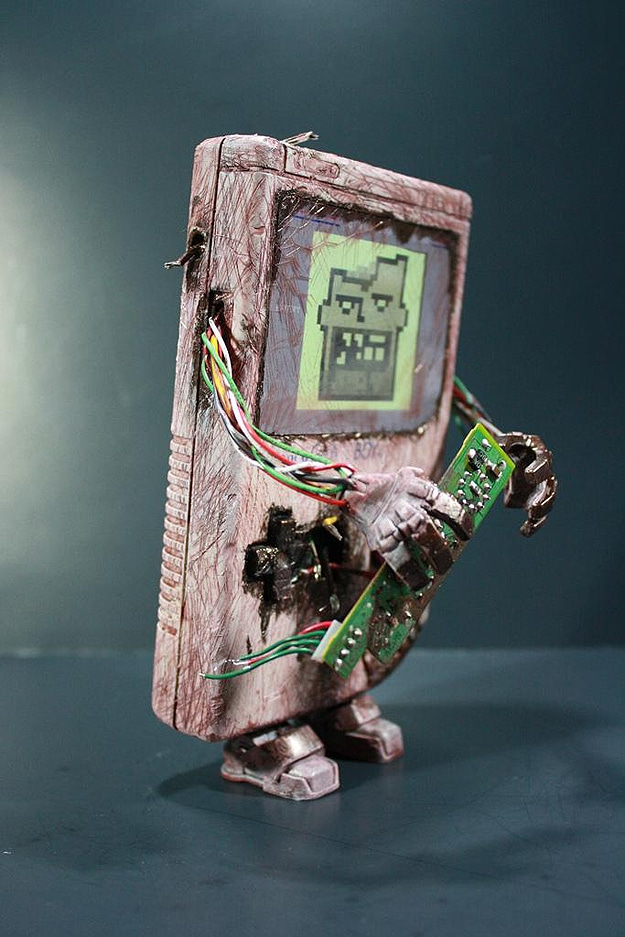 Green Scary Zombie Gameboy