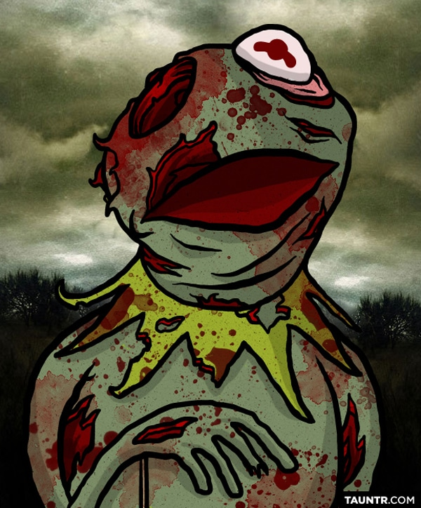 Kermit The Frog As Zombie