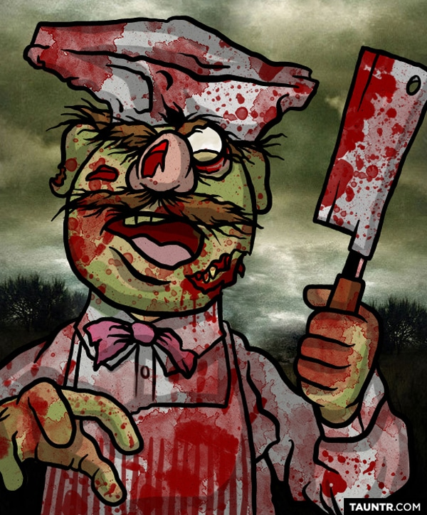 The Muppets Redesigned As Zombies