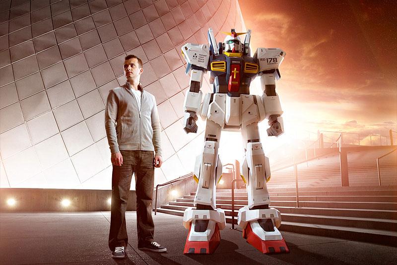 Insanely Impressive 7-Foot Tall Papercraft Gundam