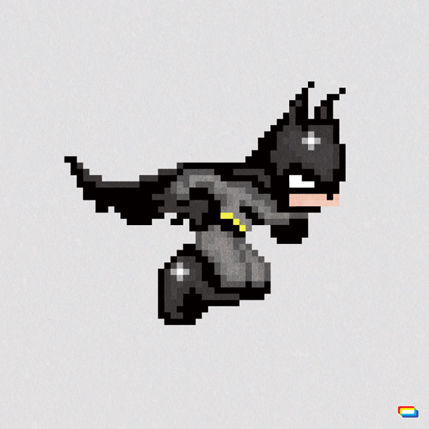 8-Bit Retro Hero Graphic Design
