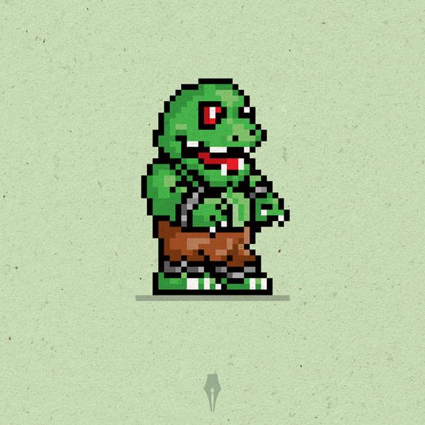 8-Bit Retro Hero Graphic Design