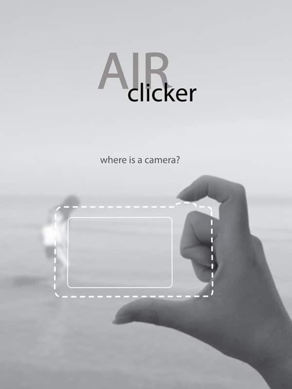Air Clicker Camera Concept Design