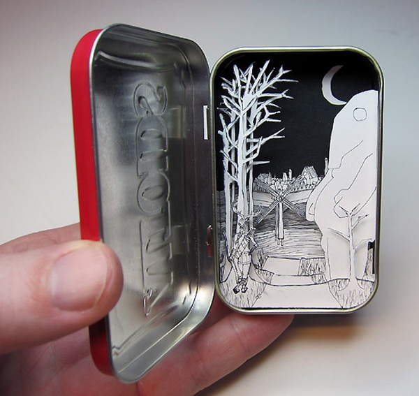 Tiny Scenes Inside Tin Cans