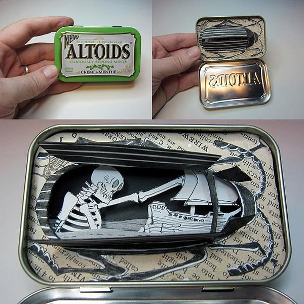 Artist Carves Altoids Tin Can