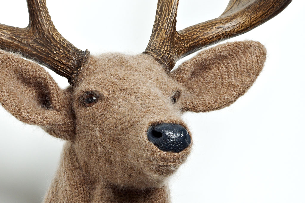 Animal Crochet Taxidermy Wall Pieces