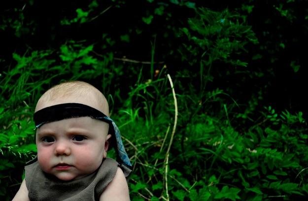 Toddler Plays Rambo Photograph