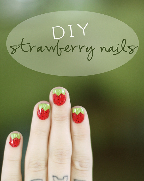 Strawberries Fingernail Polish Manicure