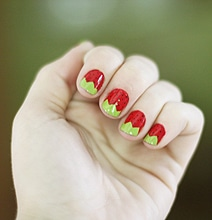DIY Strawberry Nails: Make Your Day A Little Sweeter