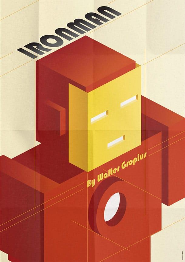 Deco Superhero Art Design Posters