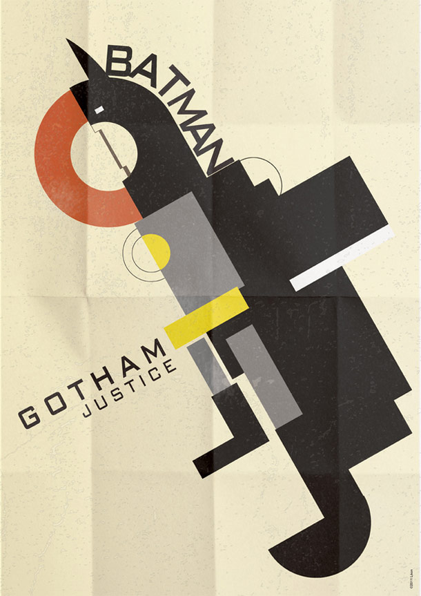 Deco Superhero Art Design Posters