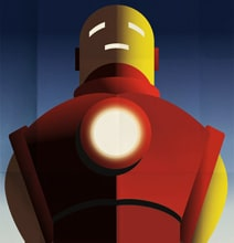 Fantastic Art Deco Superhero Posters