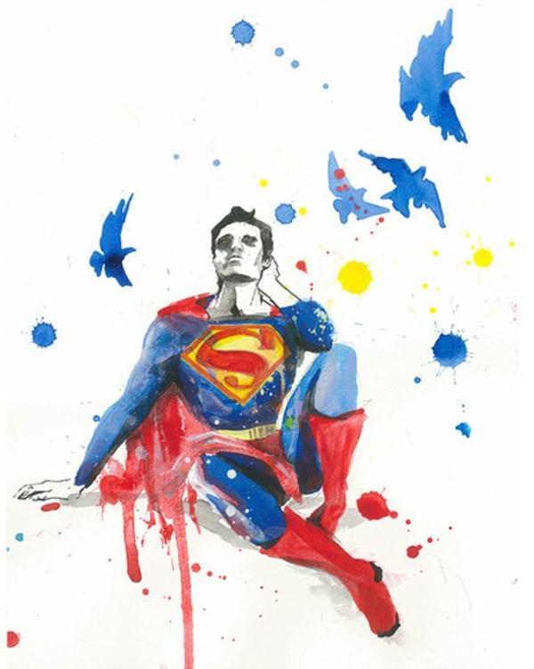 Grunge Art Sad Superheroes